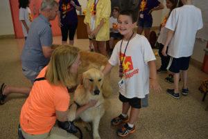 Camp Pegasus Dog Therapy