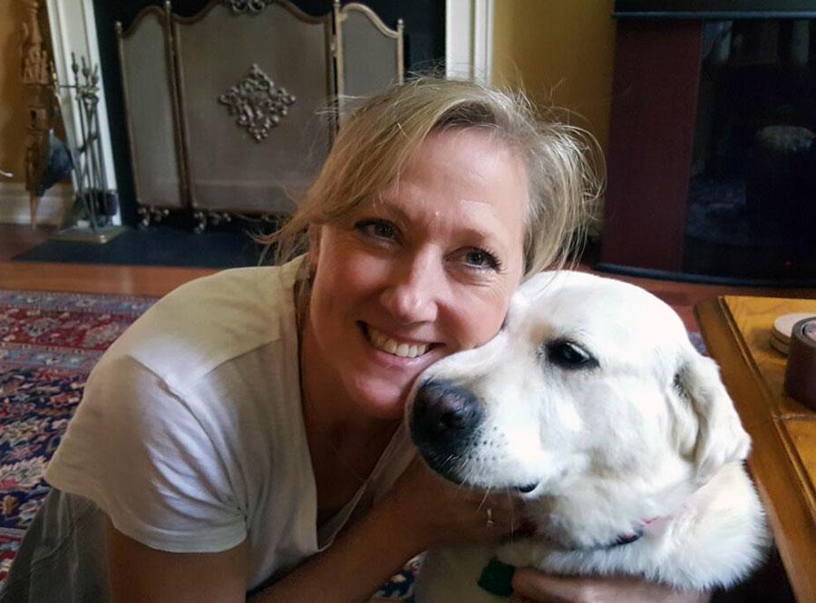 Dr. Karyl Hurley and dog