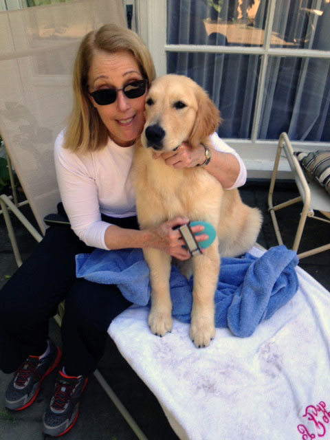 Kit Feldman with Dog