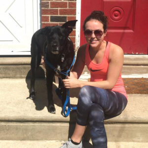 Dana and her dog, Vinny