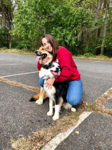 Brianna Amato with Dog