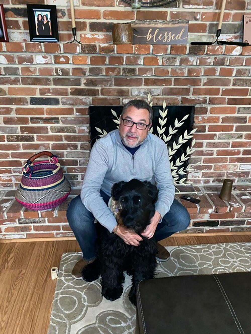 John Cappeli with Dog