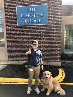 Jacob and his dog Teddy
